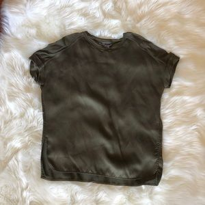 Vince silk tee with contrasting panels